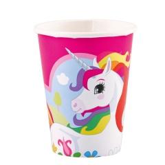 Pahare carton Unicorn pentru petrecere - 266 ml, 9902102, Set 8 buc