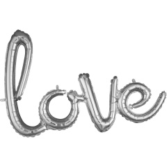Script Phrase `Love` Silver