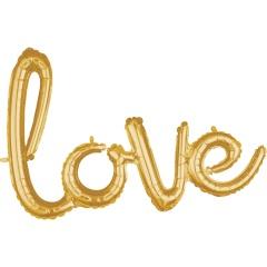 Pachet litere Love script - auriu, 41 cm, 36696