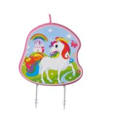 Birthday Candle Unicorn - 7 cm, Radar 9904371