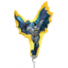 "Batman Micro Foil, 9""/23 cm, on stick, 17754, 1 piece"