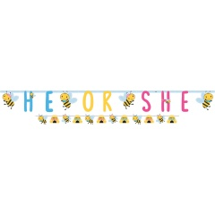 Baby Shower He or She Illustrated Letter Banners - 2.49 m, 120395, 2 pieces