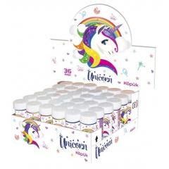 Unicorn 60 ml Soap Bubbles Party Toy, Radar 1420TUN0491, 1 piece