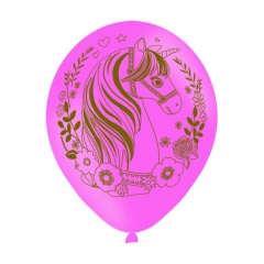 "11"" Printed Latex Balloons Unicorn, Radar 9903678, pack of 6 pcs"