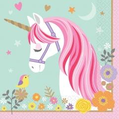 Servetele de masa Magical Unicorn pentru petrecere - 33 x 33 cm, Radar 511929, 16 buc