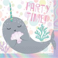 Servetele de masa print Balena pentru petrecere - 33 x 33 cm, Radar 9904593, 16 buc