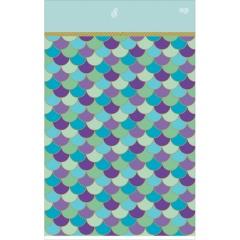 Mermaid Plastic Table Cover, 137 x 259 cm, 571975, 1 piece