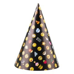 Smiley Emoticons Party Hats - 9901296, Pack of 8 pieces