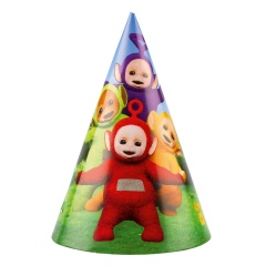 Teletubbies Party Hats - 9901201, Pack of 8 pieces
