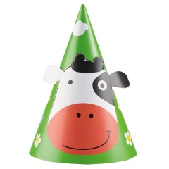 Fun Farm Party Hats - 9900382, Pack of 8 pieces