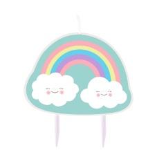 Birthday Candle Rainbow & Clouds - 15 x 12,5 cm, Radar 9904311