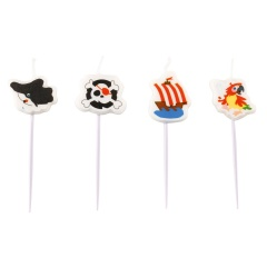 Mini figurine Candles Pirate, 15.5 cm, Amscan 9902128, pack of 4 pieces