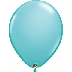 Balon Latex Caribbean Blue, 16 inch (41 cm), Qualatex 50323