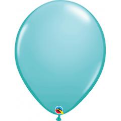 Caribbean Blue Latex Balloon, 16 inch (41 cm), Qualatex 50323