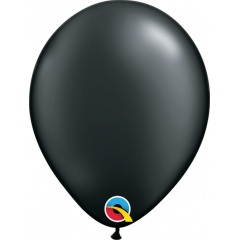 Pearl Onyx Black Latex Balloon, 5 inch (13 cm), Qualatex 43579, Pack of 100 pieces