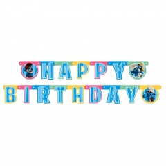 Banner decorativ cu Strumfi pentru petrecere - 1.8m, Amscan 552148, 1 buc