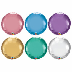 Balon Folie Chrome Rotund - 45 cm, diverse culori, Qualatex