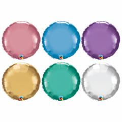 Balon Folie Chrome Rotund - 45 cm, diverse culori, Qualatex