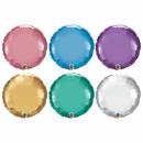 Round Chrome Microfoils Multicolour, Qualatex