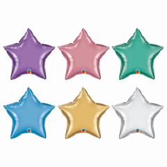 Star Shaped Chrome Microfoils Multicolour, Qualatex