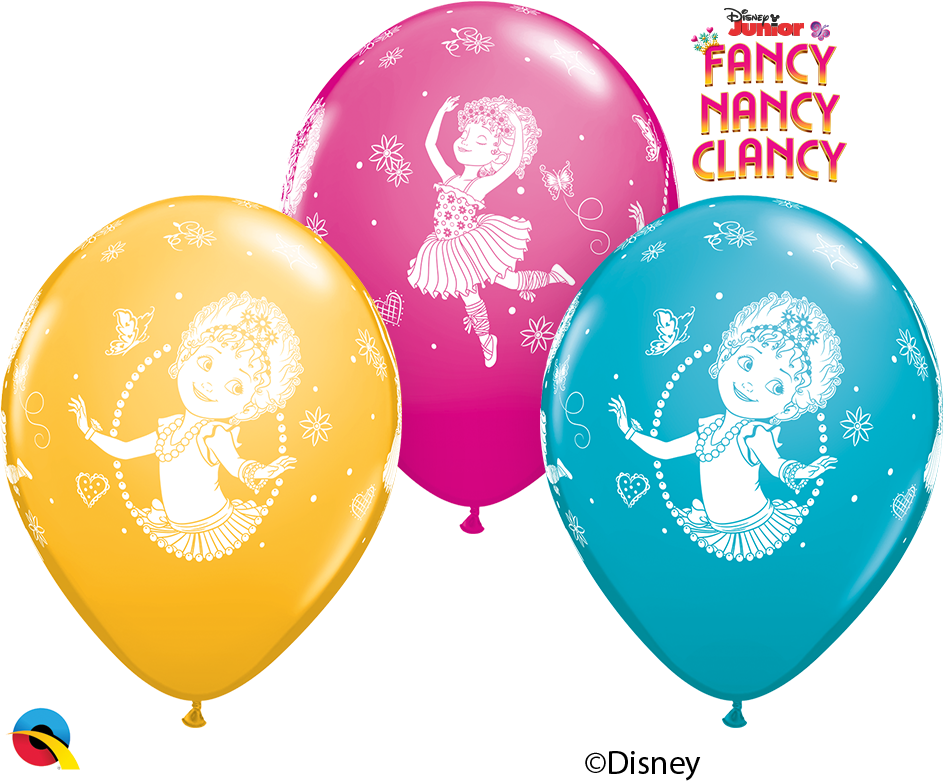 11 Fancy Nancy Clancy Printed Latex Balloons Qualatex 92723 Pack Of 25 Pcs