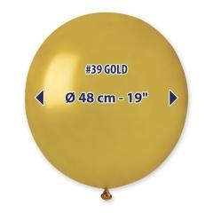 Balon Latex Sidefat Jumbo 48 cm, Auriu 39, Gemar GM150.39
