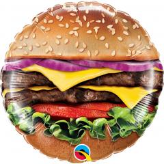 """9"""" Cheeseburger Air Fill Microfoil Balloon, Qualatex 58453"""
