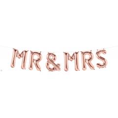 """Balloon Foil Banner Mr & Mrs, 16"""", 58820"""