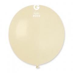 Ivory 59 Jumbo Latex Balloon, 19 inch (48cm), Gemar G150.59