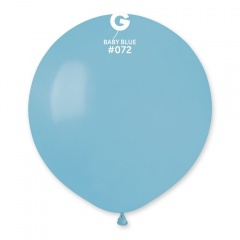 Baby Blue 72 Jumbo Latex Balloon, 19 inch (48cm), Gemar G150.72