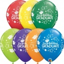 Baloane latex 11''/28 cm - Congratulations Graduate, Qualatex 99654, set 5 buc