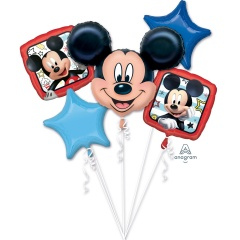 "Bouquet ""Mickey Roadster Racers"" 5 Foil Balloons"