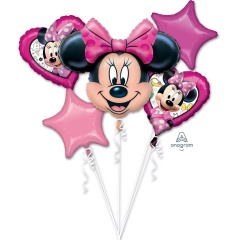 "Bouquet ""Minnie Happy Helpers"" 5 Foil Balloons"