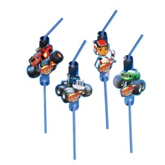 Blaze Party Drinking Straws, 9901357, Pack of 8 pieces
