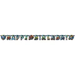 Blaze Happy Birthday Banner - 182 x 15 cm, 9901359, 1 piece