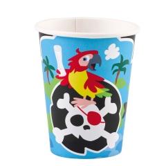 Pahare carton Pirat pentru petrecere - 250 ml, 9902121, Set 8 buc