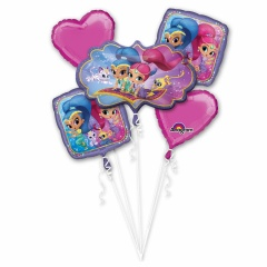 """Bouquet """"Shimmer and Shine"""" Foil Balloons, 33943, pack of 5 pieces"""