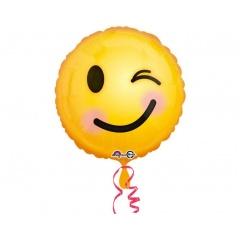 """Emoji Smiley Round Foil Balloon - 18""""/45 cm, 33565"""