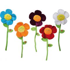 Cadou Amuzan- Floare muzicala cu sunet, 30 cm, culori diverse, Radar 62/0996