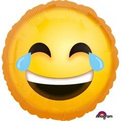 """Emoji Smiley Round Foil Balloon - 18""""/45 cm, 35300"""