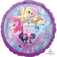 "18"" My Little Pony Holografic Round Foil Balloon, 37334"