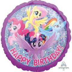 "18"" My Little Pony Happy Birthday Round Foil Balloon, 37335"