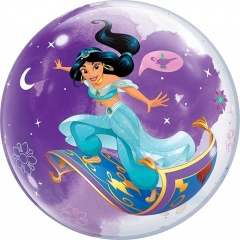 "Balon Bubble 22""/56 cm, Princess Jasmine, Qualatex 87533"
