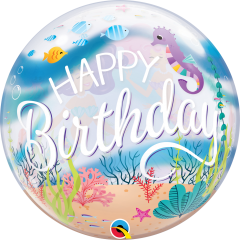 "22"" Mermaid Birthday Bubble Balloon, Qualatex 87741"