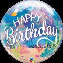 "22"" Mermaid Birthday Bubble Balloon, Qualatex 87741"