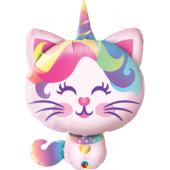 Balon Folie Figurina Mythical Caticorn, Qualatex 97537