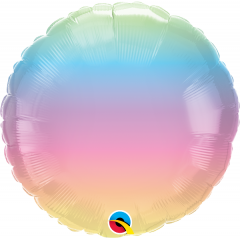 Balon Folie 45 cm Pastel Ombre, Qualatex 97430
