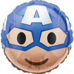 Balon folie 45 cm Captain America Emoticon, 36366