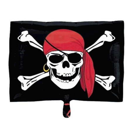 Jolly Roger Pirate Birthday Foil, 45 cm, 29789ST