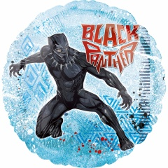 "18"" Black Panther Round Foil Balloon, 38950"